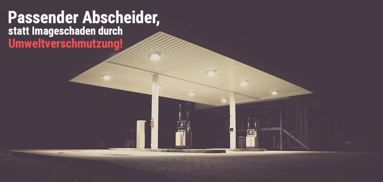 Tankstelle mit Ölabscheider