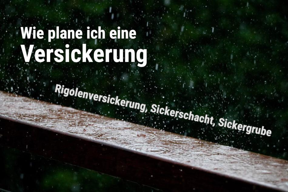 Super Wie kann ich Regenwasser auf meinem Grundstück versickern lassen? RO19